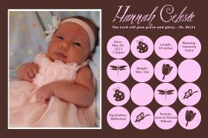 Birth announcement_Hannah Celeste